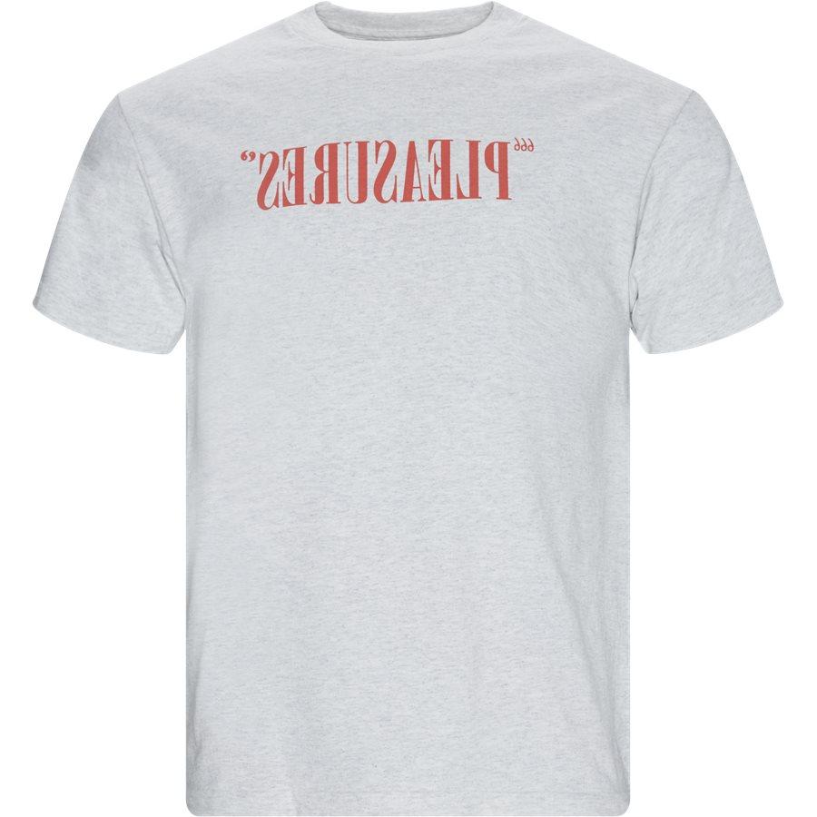 FLIPPED LOGO TEE - T-shirts - Regular - GRÅ MEL - 1